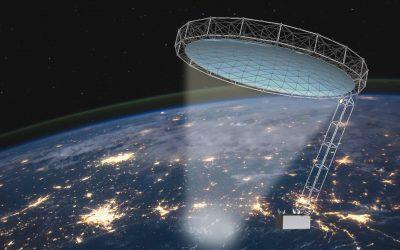 In-orbit metrology of large deployable reflectors